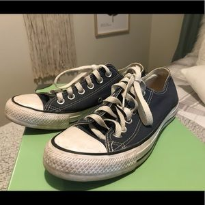 Navy blue converse great condition